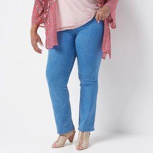 NYDJ Marilyn Straight Leg Plus SZ Jeans 26W Petite